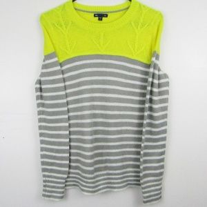 Gap Yellow Gray And White Knitted Sweater